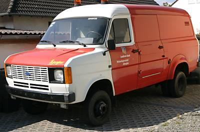 Rare 4x4 Ex German Feuerwehr Mk2 Transit